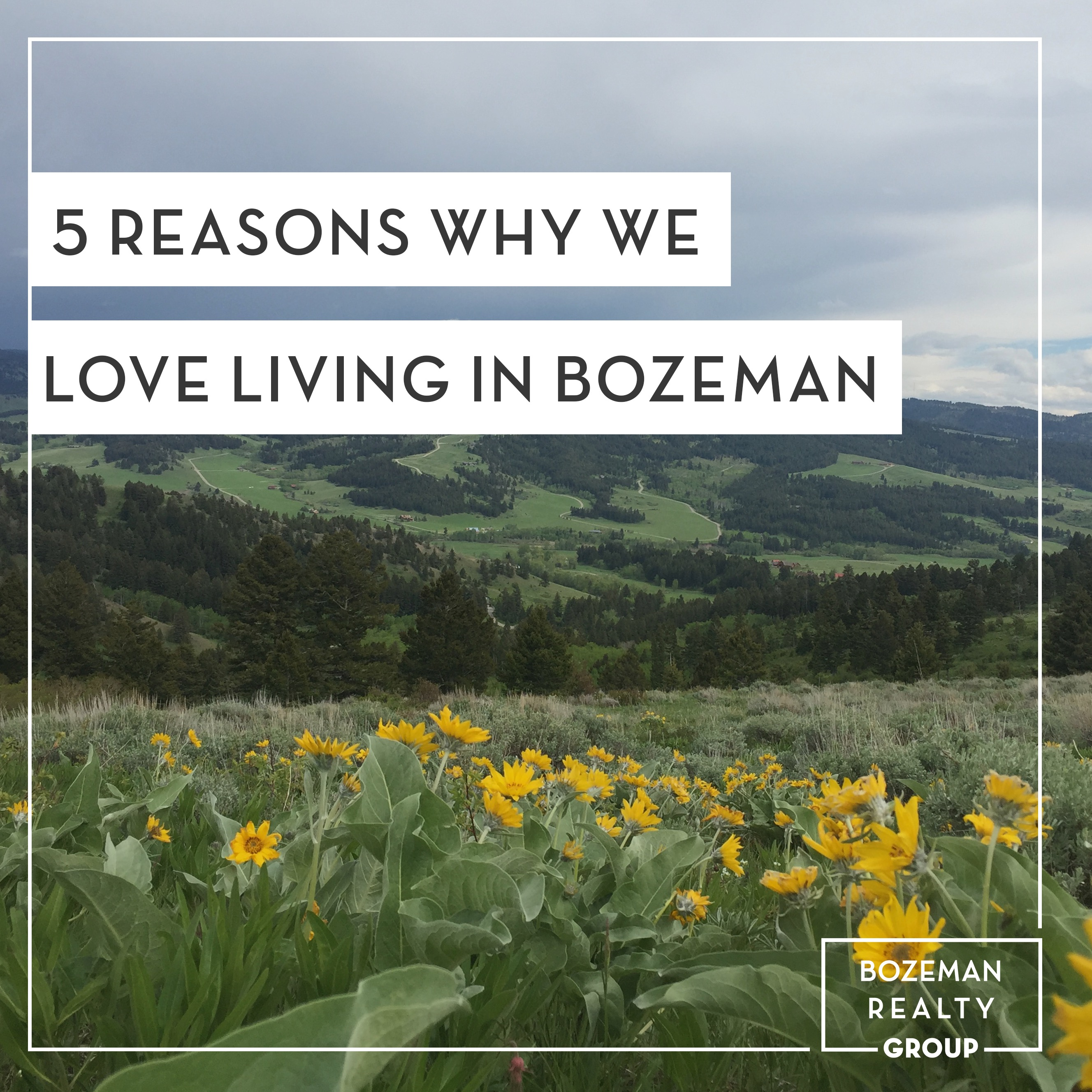 Living In Bozeman : 5 Reasons Why We Love Living in Bozeman - Bozeman Realty Group
