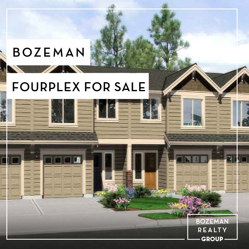 Bozeman fourplex for sale bozeman realty group for Cost to build a house in bozeman mt