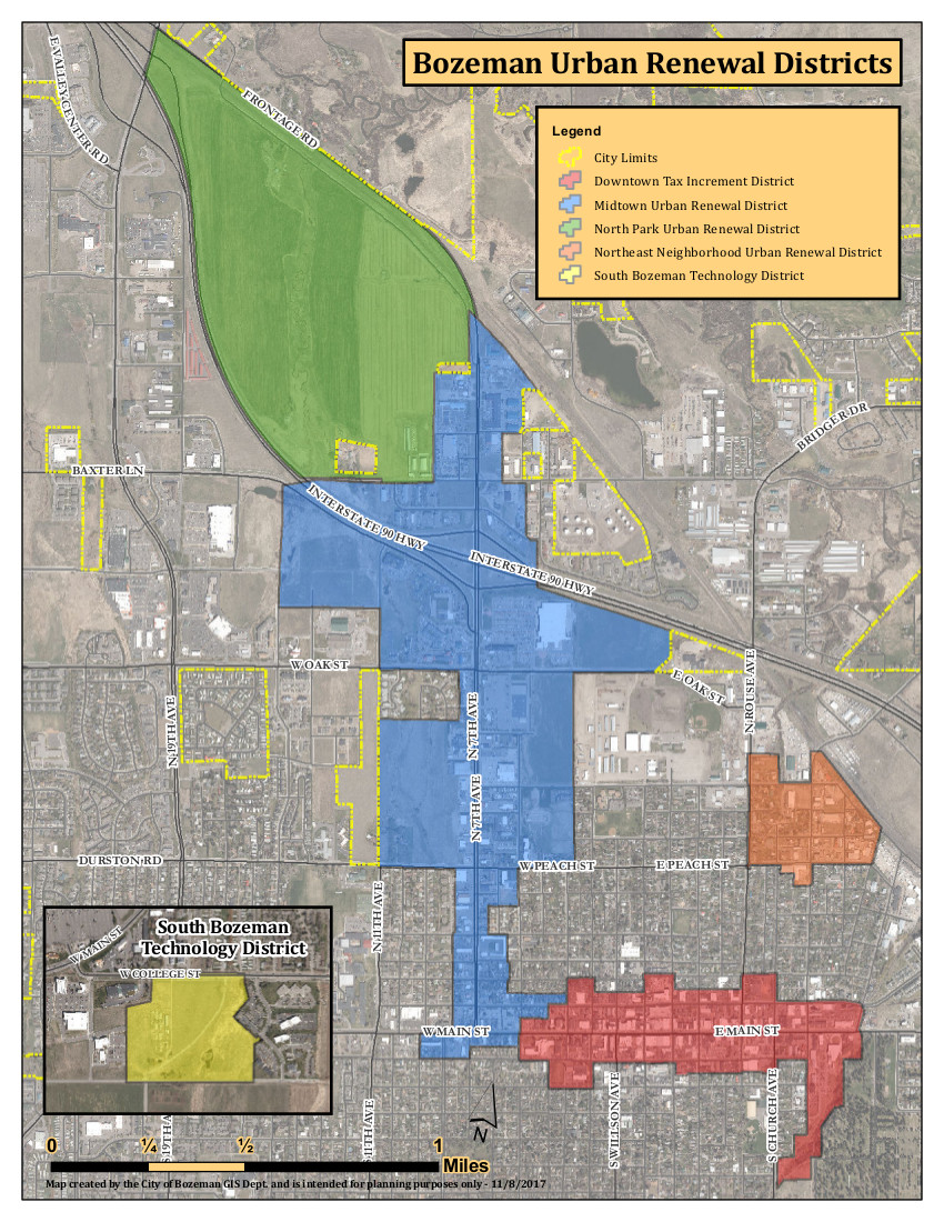 Bozeman Urban Renewal Districts