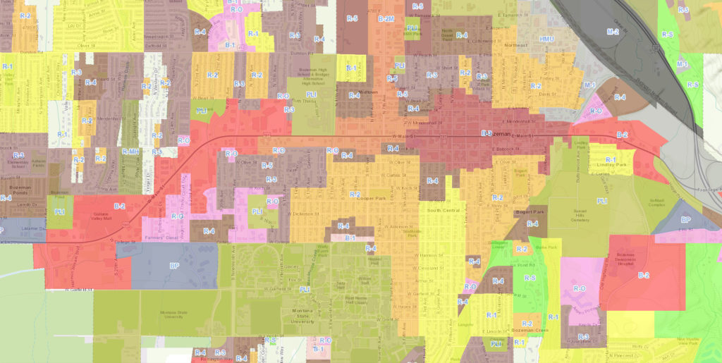 Bozeman Zoning Map